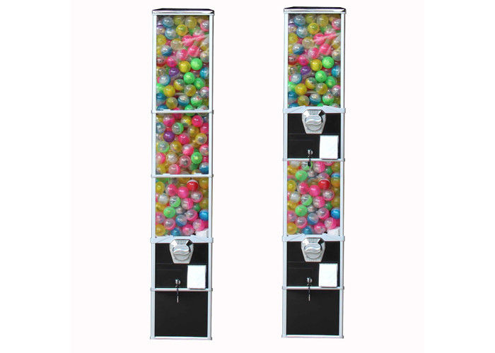 3 Types Wheel Capsule Vending Machine 29*26*158CM 1-4 Coins All Metal Parts