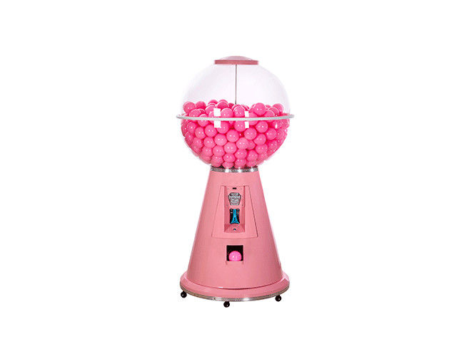 Pink Metal Body Capsule Vending Machine , Fully Automatic Vending Machine